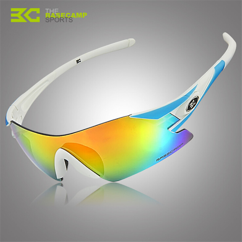 Basecamp Men Polarized Cycling Glasses Outdoor Sports Bicycle Glasses Bike Sunglasses BC-107 Goggles Cycling Eyewear 5 Lens 2017 ftiier multi lens cycling glasses polarized riding bicycle sunglasses goggles driving eyewear outdoor sports sunglasses