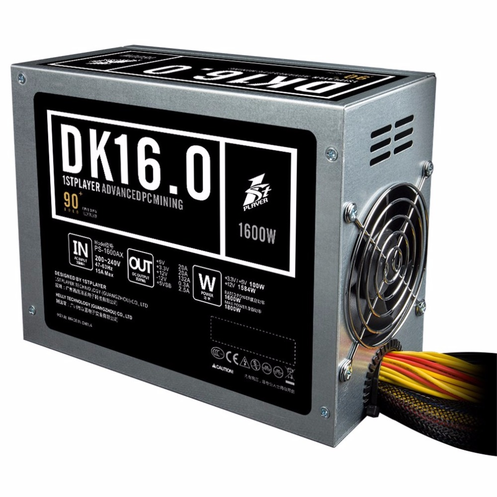 1STPLAYER PS 1600AX Low Noise Mining PSU 1600W High Power PC Mining Power Supply With 2pcs
