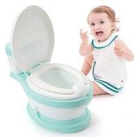 New Baby Infant Potty Seat Simulation Children Bedpan Portable Toilet Training Urinal Kids Potties Ergonomic Backrest Pot Design