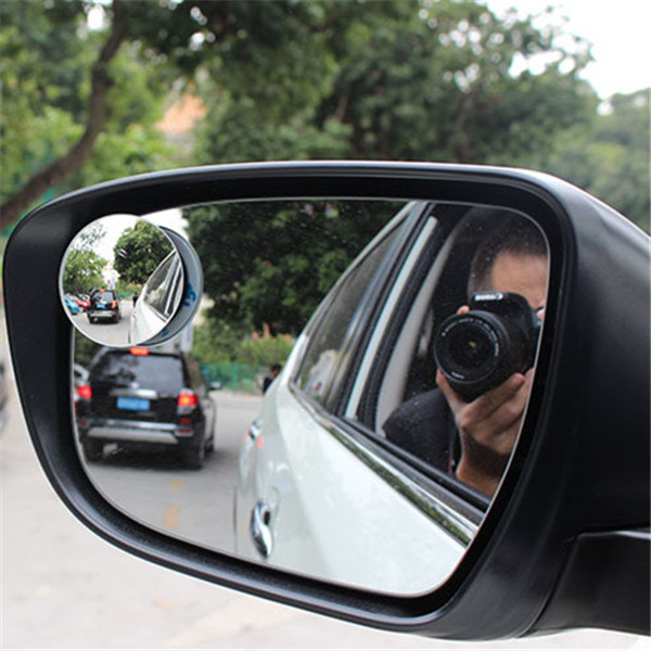 uxcell 2 x Red Motorcycle Blind Spot Rearview Mirror