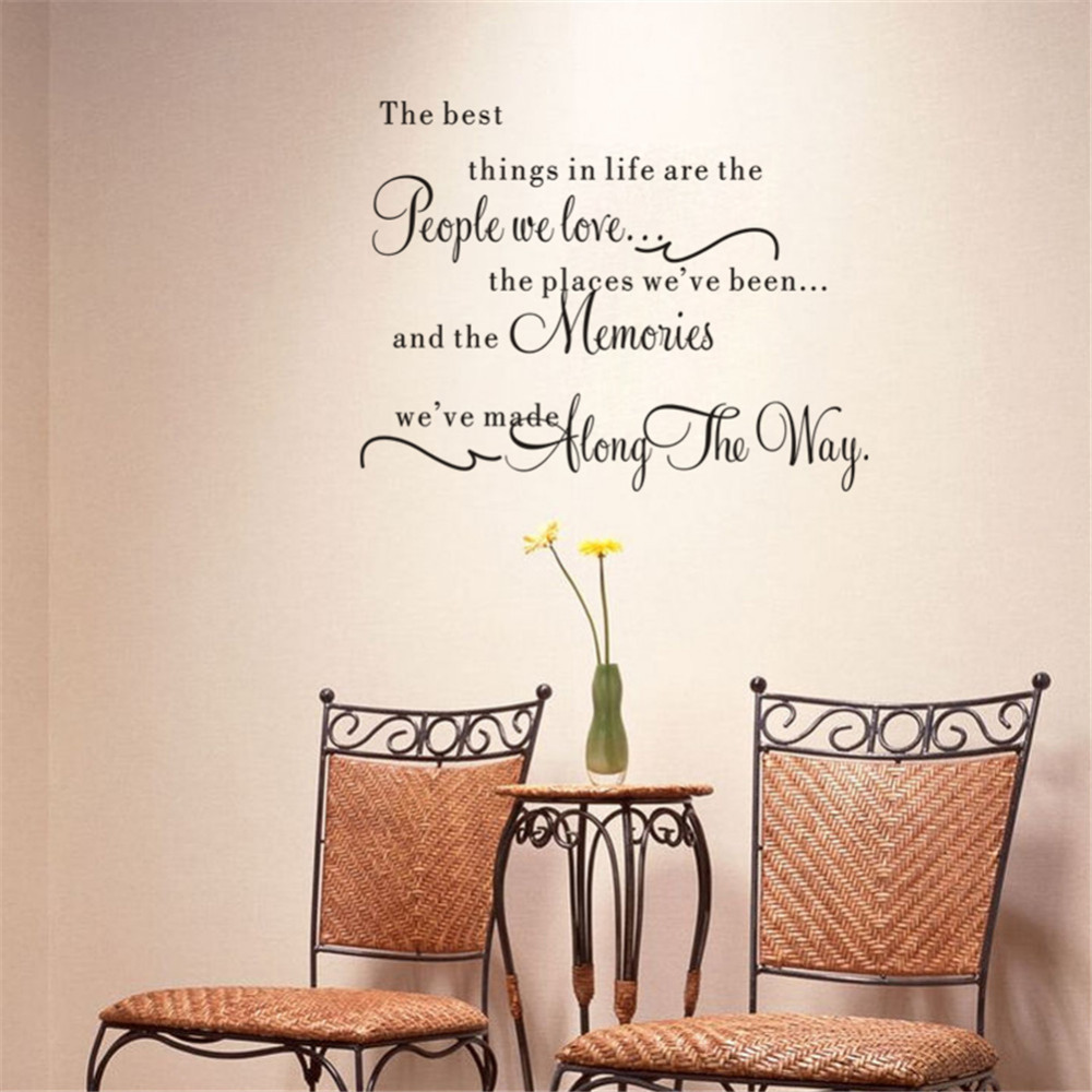 In Loving Memory Quotes The Best Things In Life Vinyl Wall Decals Love Memories Wall