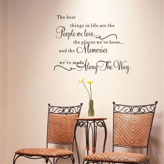 The best things in life vinyl wall decals love memories for Best quotes for wall art