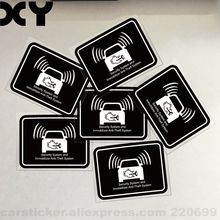 """Security System and Immobilizer Anti theft Syetem Sticker for Cars Sign ( 2.3"""" * 1.7"""" )"""