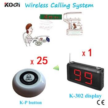 Wireless Waiter Call System Restaurant Table Call System Call Bell System 1 Display + 25 Button