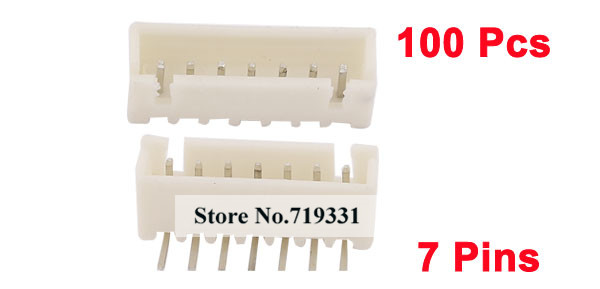 100pcs XH 2.54mm Pitch Right Angle 7 Pins JST Header Socket Male Connector