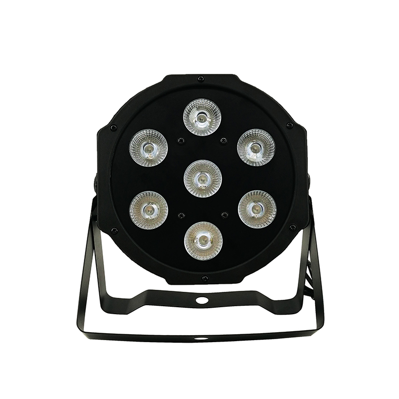 SHEHDS Lyre 7x12W RGBW LED Par Light With DMX512 4in1 Stage Wash Light Effect For DJ Disco Party Stage Equipment Luces Discoteca