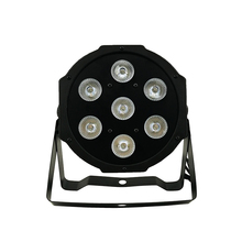 цена на SHEHDS Lyre 7x12W RGBW LED Par Light With DMX512 4in1 Stage Wash Light Effect For DJ Disco Party Stage Equipment Luces Discoteca