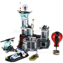 Lepin 02006 815pcs LEPIN City Police Prison Island Building Blocks Figures Model Bricks Toys Gift Compatible With 60130