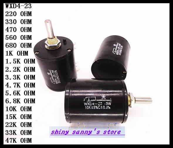 WXD4-23-3W Wire Wound Potentiometers Handmade 10 Turn New
