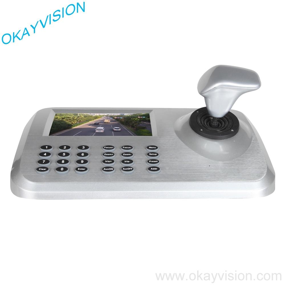 bilder für 5 zoll LCD ONVIF IP PTZ Tastatur 3D Dimension Joystick CCTV tastatur Controller für PTZ Speed Dome Kamera Unterstützung ONVIF IP PTZ