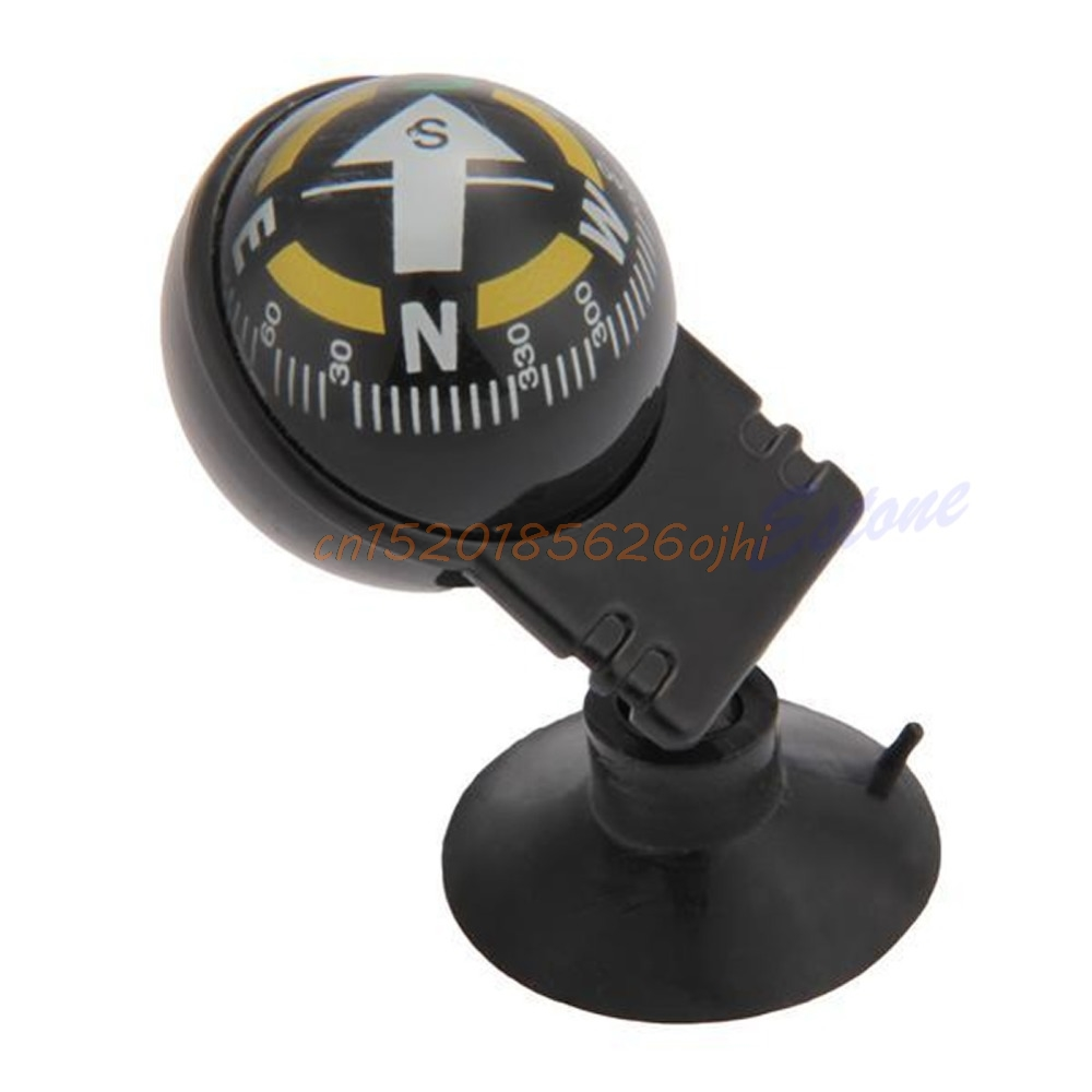 Pocket Ball Dashboard Dash Mount Navigation Compass Car Boat Truck Suction #H030# mini kompas sleutelhanger
