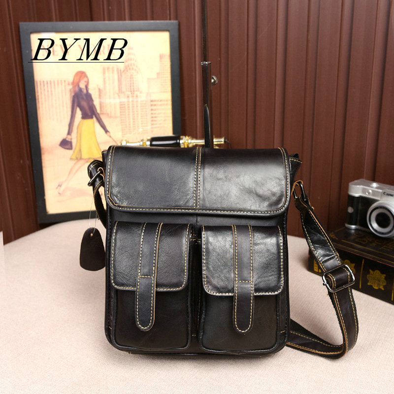 2017 Genuine Leather Men Bag men's Briefcase Fashion leather Men's Messenger Bags Tote Shoulder crossbody bags Handbags aosbos fashion portable insulated canvas lunch bag thermal food picnic lunch bags for women kids men cooler lunch box bag tote