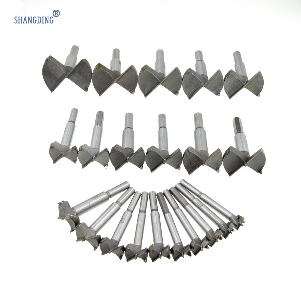 Free Shipping 21PCS 1 Set (15mm~60mm) Cutting Diameter Auger Hinge Boring Drill Bit Woodworking Hole Saw Wood Cutter Silver Tone 38mm 100mm diameter hinge boring bit woodworking silver tone round shank wood drilling forstner carbide tip cutting wood tool