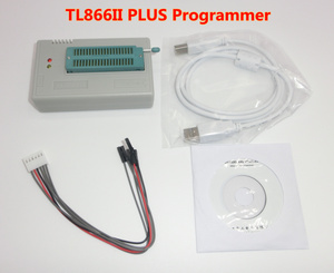 Image 2 - 100% ORIGINAL TL866II PLUS programmierer + 24 adapter + IC clip Hohe geschwindigkeit AVR MCU Flash EPROM Programmierer ersetzen TL866A /CS
