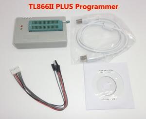 Image 2 - 100% oryginalny TL866II PLUS programator + 24 adaptery + zacisk ic szybki AVR MCU Flash EPROM programator wymień TL866A/CS