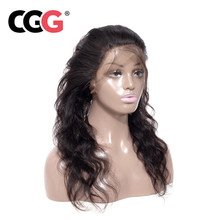CGG 360 Lace Frontal Closure Malaysian Body Wave Closure With Baby Hair Natural Color Lace Frontal Human Hair Non Remy Closure