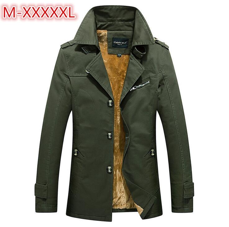 Men's Winter Keep warm Jacket Fashion Windbreaker Military Waterproof Men Long Trench Jacket Coats Army Casaco Masculino 5XL
