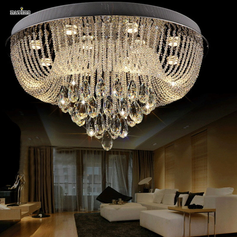 Ceiling Lights Circular Led Crystal Lamps And Lanterns Cornucopia Absorb Dome Light Of Contemporary Sitting Room Hotel Engineering Lobby Lamps Ceiling Lights & Fans