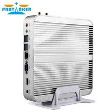 In Stock! Skylake Fanless Mini PC Win 10 Barebone i3 6100U Intel HD Graphics 520 6Gen 4K HTPC Desktop Computer