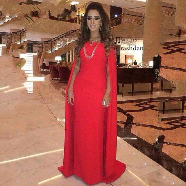 Robe de soiree rouge marocaine