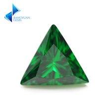 3x3 ~ 9х9 мм треугольная форма 5a зеленый cz камень искусственные