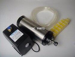 Wrzeciono frezarskie CNC ER11 1.5KW wrzeciona chłodzenia wodą + pompa wody + rura wodna + 13 sztuk ER11 tuleje zaciskowe