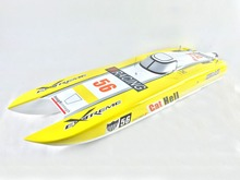 1.3M 120A ESC Brushless Electric 100KM/H RC Speed Racing Boat E51 Two Motor KIT Yellow