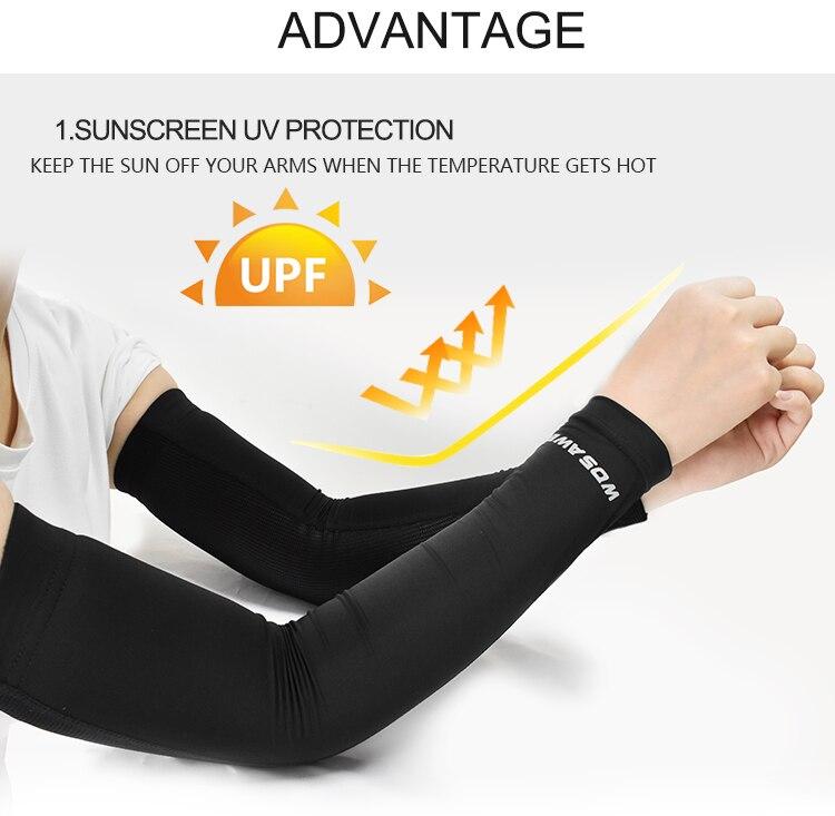 WOSAWE Unisex Manguito Ciclismo UV Velosiped Armwarmers Soyuducu Arm - İdman geyimləri və aksesuarları - Fotoqrafiya 4