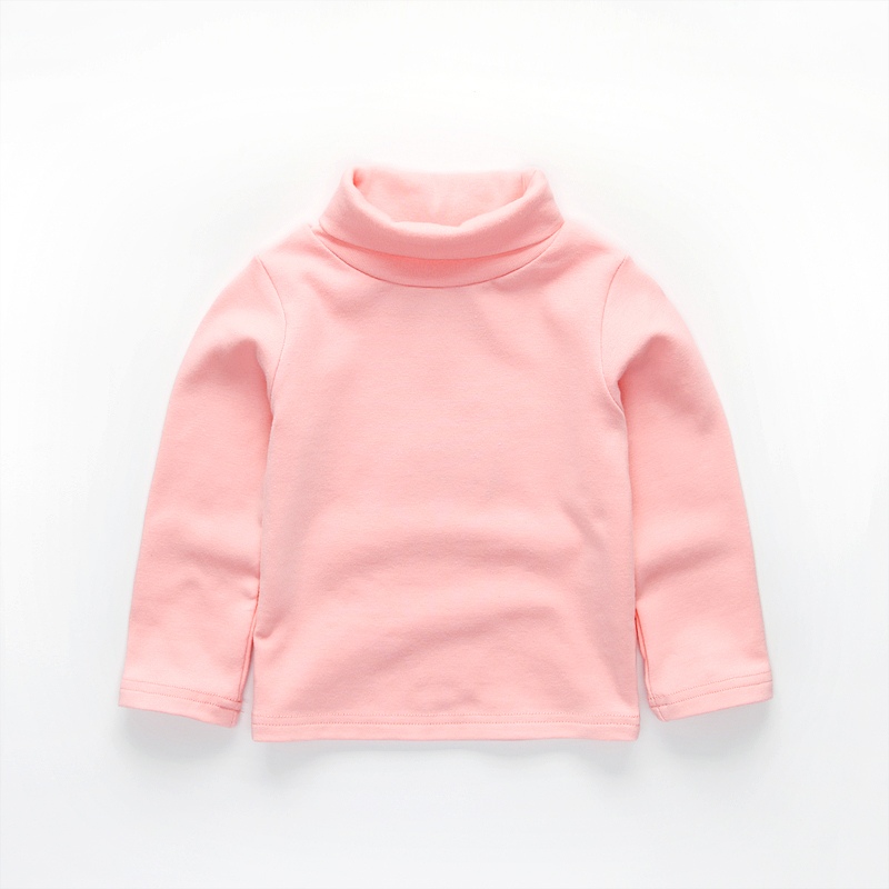 Free shipping spring autumn girls <font><b>basic</b></font> <font><b>shirts</b></font> turtleneck collar t-<font><b>shirt</b></font> <font><b>baby</b></font> girl long sleeve clothes image