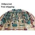 Frete grátis de brinquedo de plástico de base militar 310 pçs/set soldado modelo de mesa de areia soldado de presentes de natal