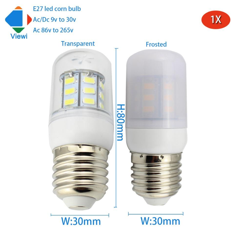 12v Lampe Us 3 44 25 Off Viewi 1x Bombillas Led E27 Bulb Light 5w 12v 24v Energy Lamp Transparent Frosted Cover 5730 27leds 86 265v 12 To 24 Volt Lampe In