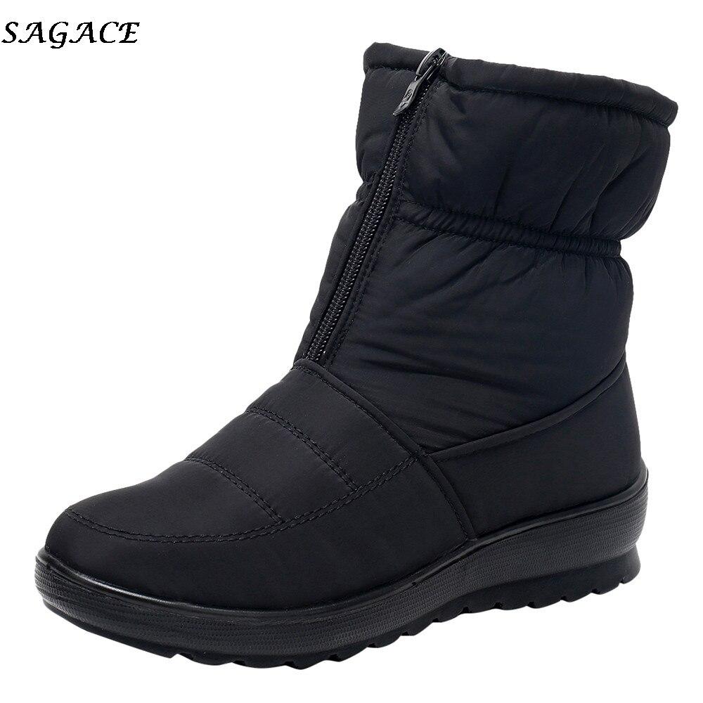 100% Wahr Sagace 2018 Neue Schnee Stiefel Frauen Wasserdichte Damen Kurze Schuhe Stiefel Weibliche Winter Nicht-slip Warme Plüsch Schuhe Größe 35-41 #35