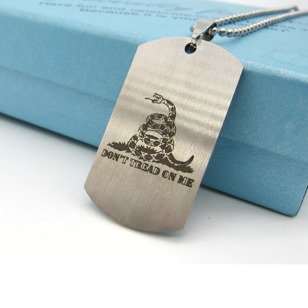 Divine New Tread On Me Snake Necklace Stainless Steel Dog Tag Pendant Beadedchain Online Get Cheap Pendants On A Dog Tag Alibaba Group Cheap Dog Tags Pets Kids Cheap Dog Tags