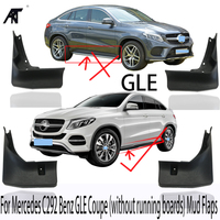 NEW 4pcs Front Rear Mud Flaps Splash Guard For Mercedes C292 Benz GLE Coupe (without running boards) 2016 2017 Mud Flaps