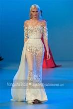 2016 Elie Saab Design Abendkleid Tulle LaceTransparent Luxus Kleider Cocktail Party Robe De Soiree MY1019-18