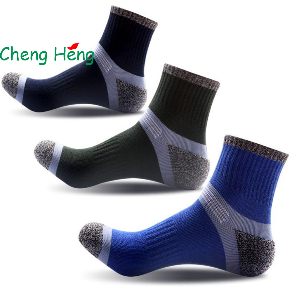 CHENGHENG 12 Pairs / Bag New Hot Summer Mens Cotton Socks Fashion Stitching Pattern Tube ...