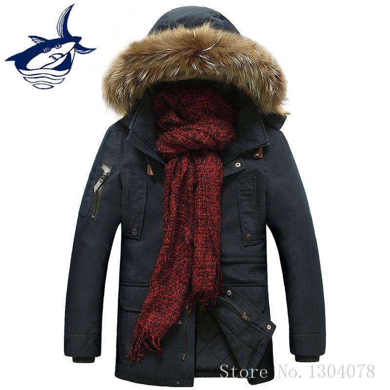 New Fashion Thicken Fleece Parka Men Brand Tace & Shark Winter Jacket Men Fur Collar casaco masculino jaqueta masculina inverno tace