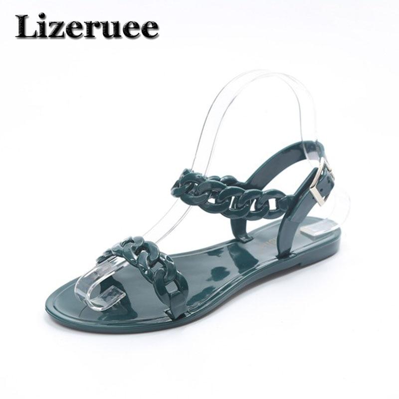 8a8c73058c12 2018 women flip flops Beach sandals fashion Bling slippers summer women  flats shoes woman flat sandals Jelly shoes M19