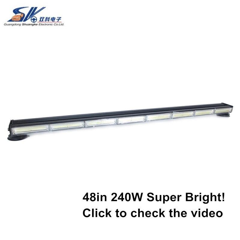 46 220W double side brightest amber COB LED Strobe flash Emergency Hazard Warning LED traffic advisor lamp