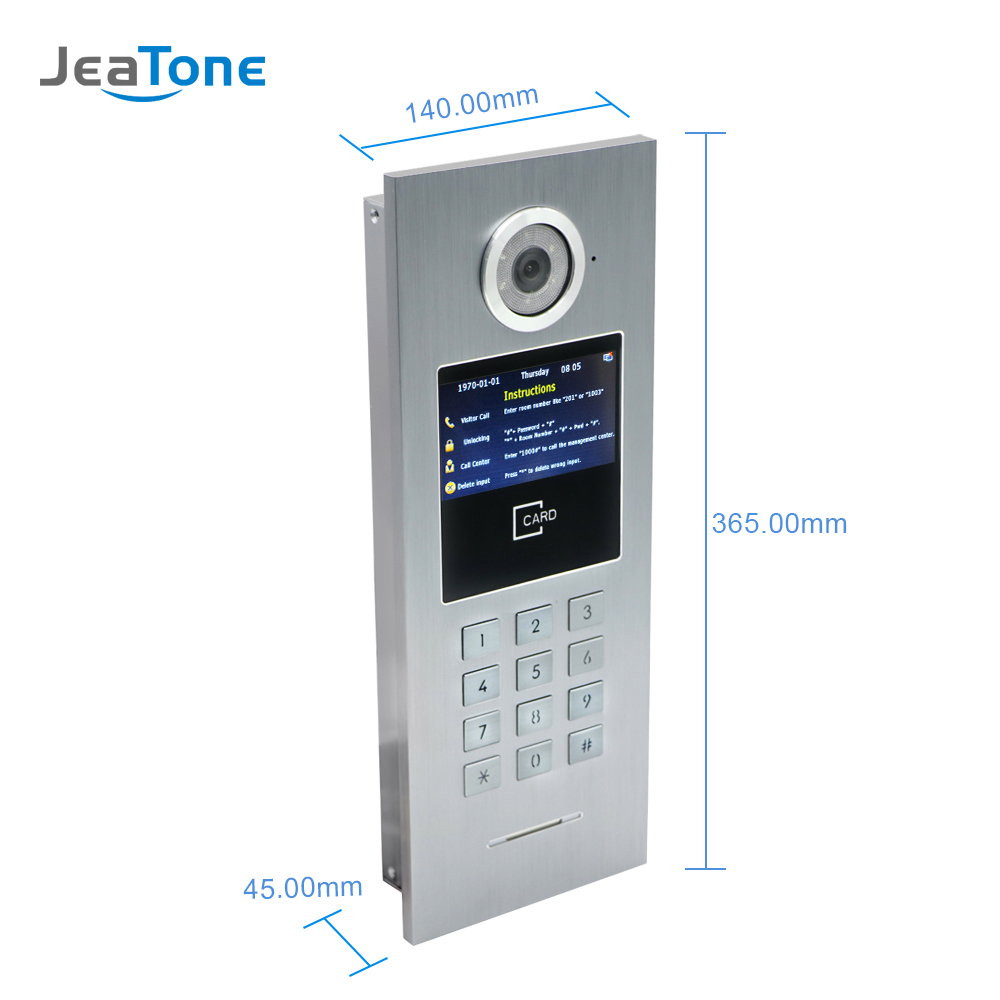 Image 3 - 7 Touch Screen WIFI IP Video Door Phone Intercom +Switch 4 Floors Building Access Control System Support Password/IC CardVideo Intercom   -
