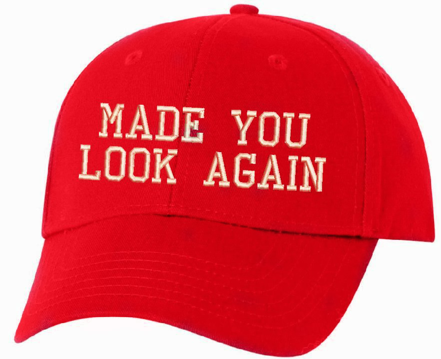 MADE YOU LOOK AGAIN MAGA Printed Baseball Cap Adjustable Donald Trump MAGA Hat
