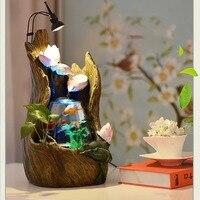 Аквариум Wonderland FishTank Грут дерево полый фонтан со светом рабочего офиса украшения Крытый центральным Рождественский подарок