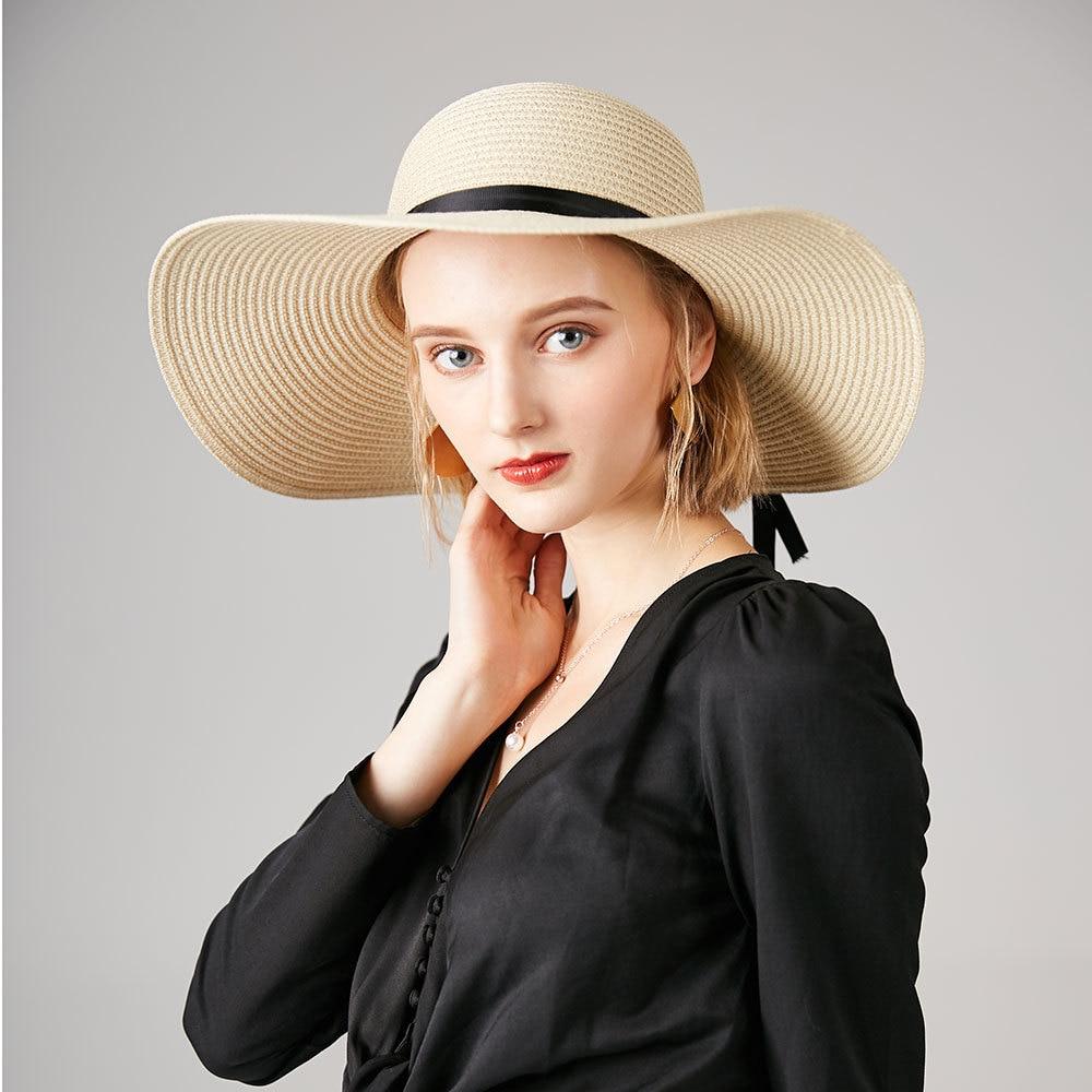 2017 vasaras vēstule sieviešu saules cepures dāmas plašas malas - Apģērba piederumi