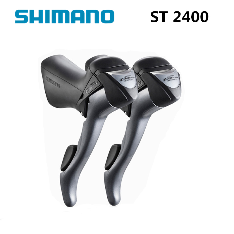 цена на shimano ST 2400 2x8S 16S Shifter / Brake Lever Road Bike Bicycle Parts Include Inner Cables