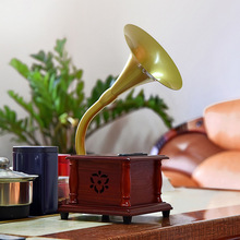 1L1702 перламутровые туфли для невесты украшение стола Оловянная Пластина Модель фонографа уникальный элегантный стиль прочный Ностальгический винтажный Граммофон
