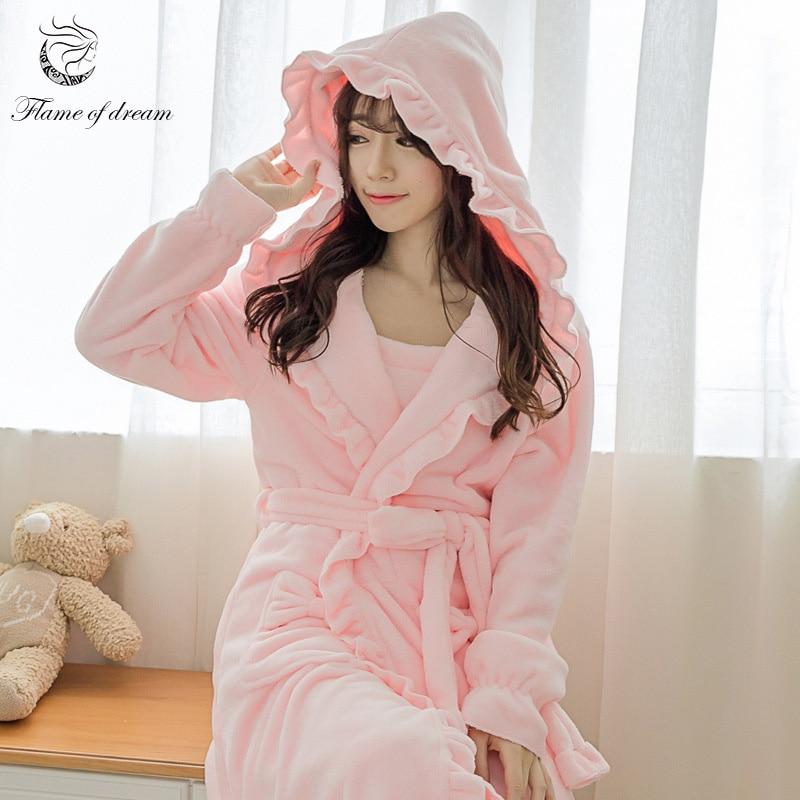 Bust 90-110cm Winter Robe Women Robe Sleep Robes For Women 1145 ...