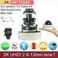 2.8-12mm H.265 UHD (4*720 P) 2 K câmera ao ar livre IP mini dome com poe kit cabo 4mp/1080 P ONVIF HD de segurança cctv GANVIS GV-T454V pk