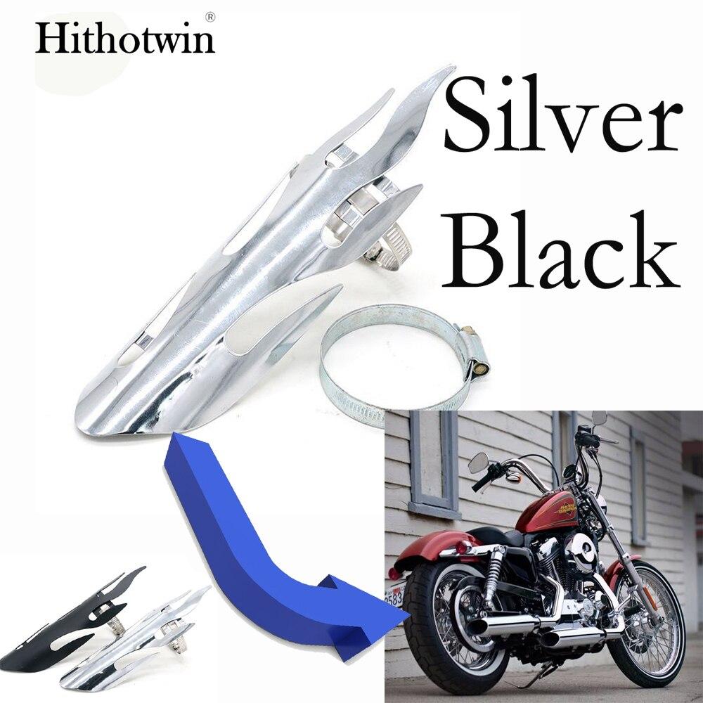 Exhaust Muffler Pipe Heat Shield Cover Heel Guard for Harley Chopper Cruiser