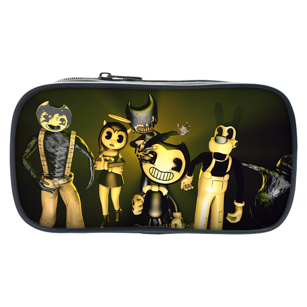 Pen-Bags Purse Bendy-And-The-Ink-Machine Women Fashion Cartoon Children for Cosmetic-Cases