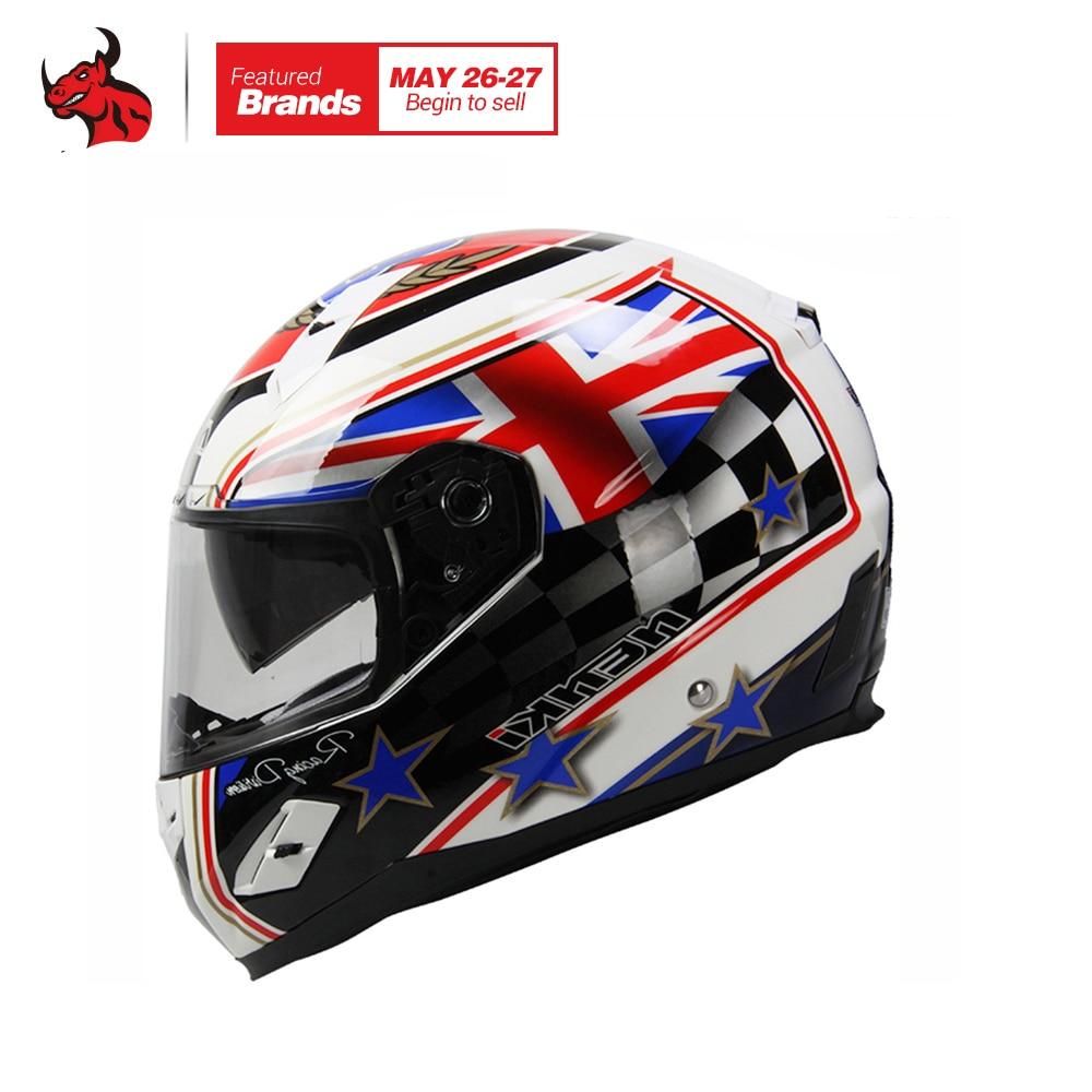 NENKI Motorcycle Helmet Fiberglass Shell Motorbike Riding Helmet Full Face Moto Helmet Capacete De Moto DOT Authentication